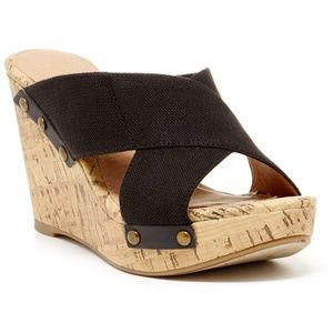 🌴 REPORT DUSTIN CORK WEDGE SANDALS